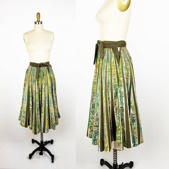 Vintage 50s Mexican circle skirt small
