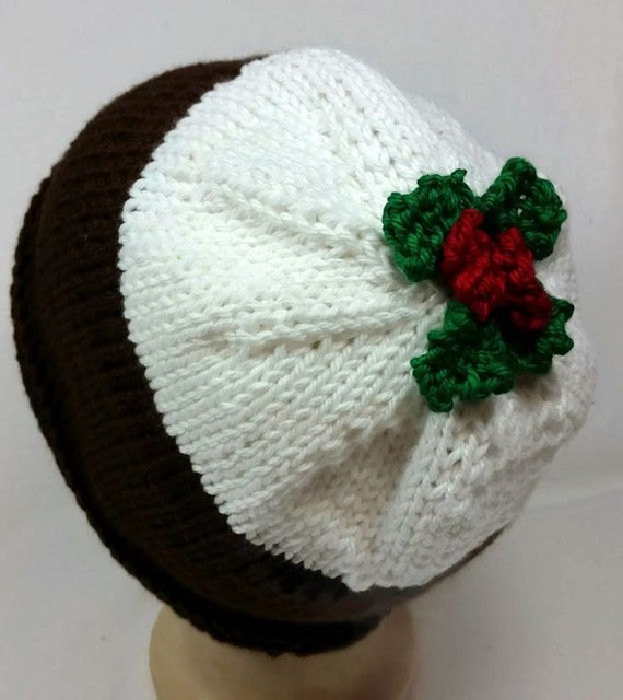 Christmas Pudding Hat Plum Pudding Hat Christmas Beanie  72b34daaf28f