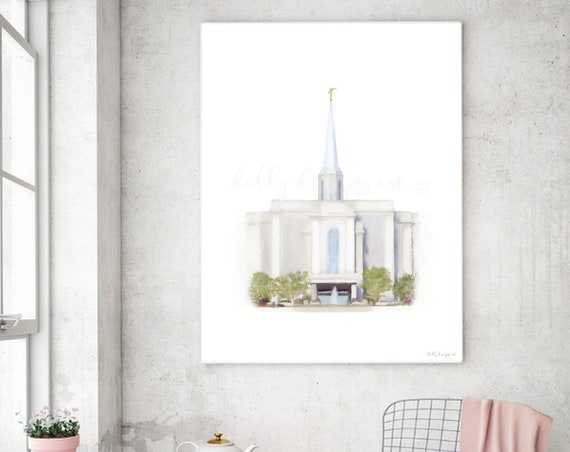 St. Louis Temple, Missouri Temple, St. Louis MO Temple, Missouri LDS Temple, Temple Art, Printable Temple Art, Church Art, Church of Jesus