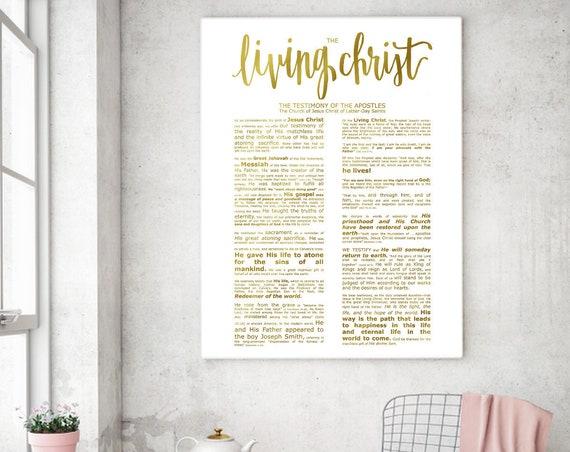 The Living Christ, Modern Emphasized, Modern LDS Printable, Living Christ Printable, Living Christ Sign, LDS Wall Art,Church of Jesus Christ