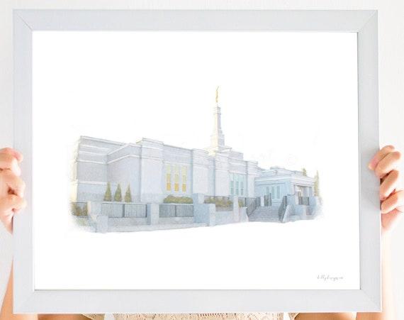 Emonton Alberta Temple, Edmonton Temple, Alberta Temple, LDS Temple, Church of Jesus Christ, Temple Art, Printable Art, LDS Printable Art