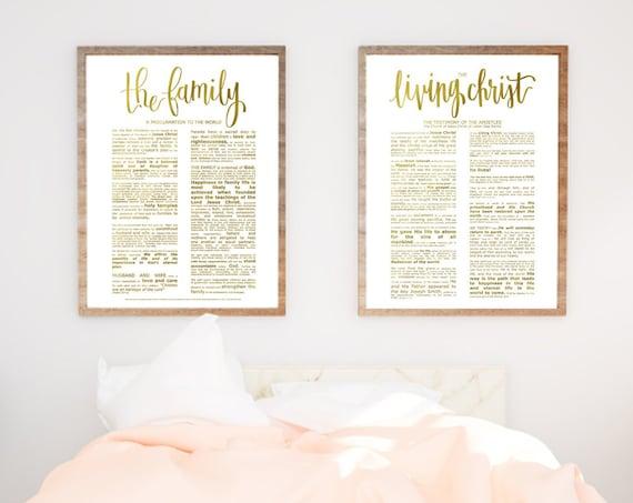 Family Proclamation, Living Christ, Bundle, Modern Emphasized, Modern  Church Printable, Family Proc, Engineer Printable, Gold Foil Prints
