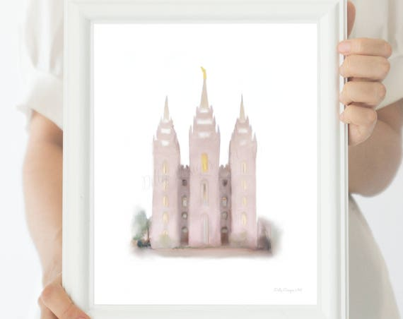 SLC Temple, LDS SLC Temple, Slc Lds Temple, Salt Lake City, Slc Temple Art, Lds Temple Wall Art, Slc, Temple, Salt Lake Temple, Salt Lake