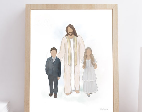 Walking With Christ, Jesus With Children, Christ With Children, Printable Art, Christ Printables, Jesus Printables, Religious Art, Christian