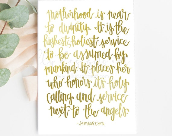 Mother's Day Card, 5x7 Printable, Church Printable, Motherhood Printable, Motherhood Card, Motherhood Quote, Mothers Quote, Mother's Day