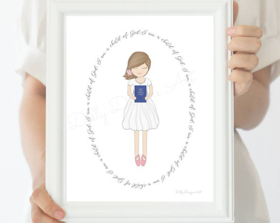 Great To Be 8, Great To Be Eight, LDS Baptism Gift, Baptism Gift Girl, LDS Baptism, Book of Mormon, Mormon Baptism, Lds Primary, Lds Artwork