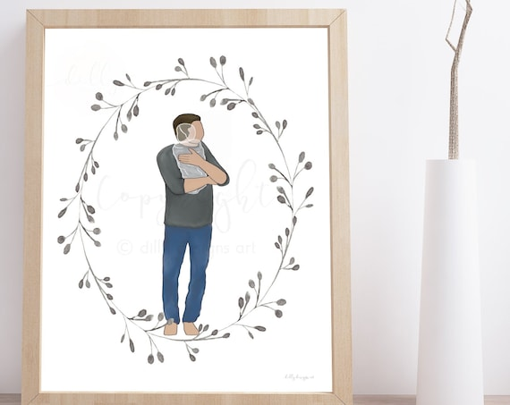 Printable Memorial Art, Memorial Painting, Digital Painting, Parents Grieving, Sympathy Printable, Memorial Printable, Condolence Printable