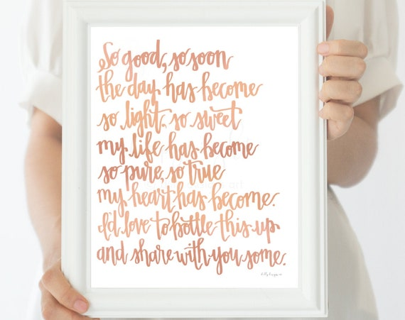Happiness Quote, So Good, Calligraphy Art, Inspiring Quote, Printable Quote, Poem Printable, Printable Poems, Poem Calligraphy, Inspiration