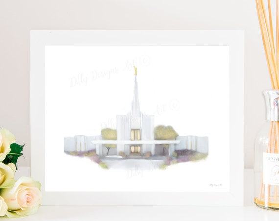 Denver Temple, Denver Colorado Temple, LDS Temple Art, Denver Temple Art, Temple Wall Art, LDS Wall Art, Temple Sealing Gift, Wedding Gift