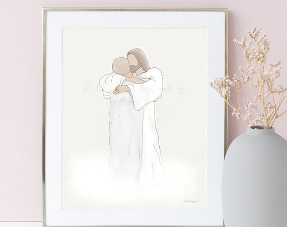 Jesus Art, Christ Art, Jesus Christ, Jesus Christ Art, Jesus Painting, Jesus Watercolor, Digital, Christ Painting, Christ Watercolor, Heaven