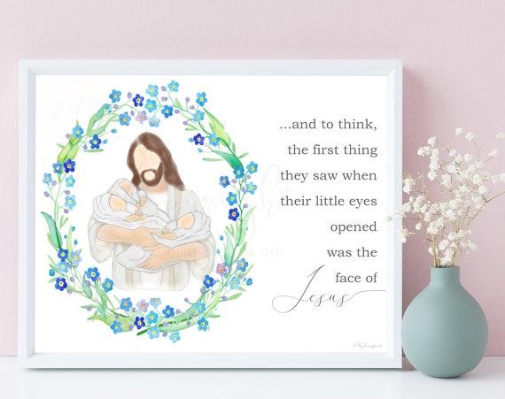 Triplets Memorial, Miscarriage Keepsake, Baby Loss, Memorial Gift, Baby Memorial, Loss of Baby, Infant Memorial, Stillborn, Funeral Gift,Art