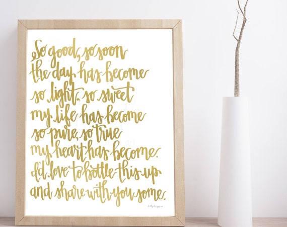 Calligraphy Art, Gold Calligraphy, Happiness Quote, Love Quote, Good Day, Words To Live By, Anniversary Quote, Printable Calligraphy, Print
