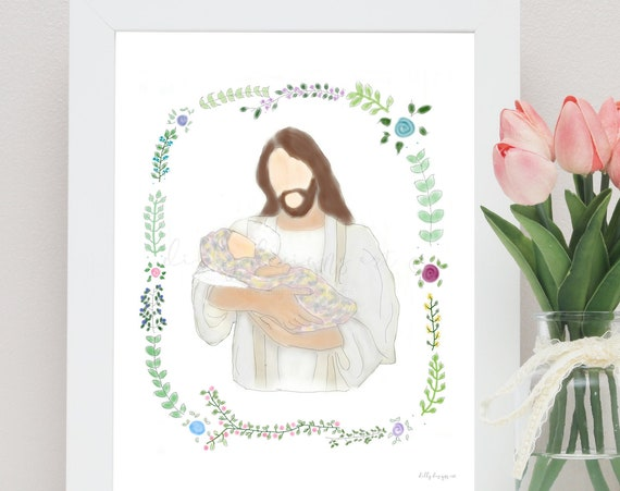 Angel Baby, Baby With Wings, Christ Holding Baby, Christ and Baby, Jesus Holding Baby, Jesus and Infant, Angel Baby Art, Christ and Angels