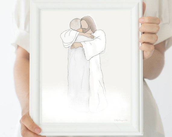Loss of Loved One, Christ, Funeral Art, Funeral Gift, Funeral Service, Heaven, Loss of Grandparent, Condolence Gift, Sympathy, Sympathy Gift