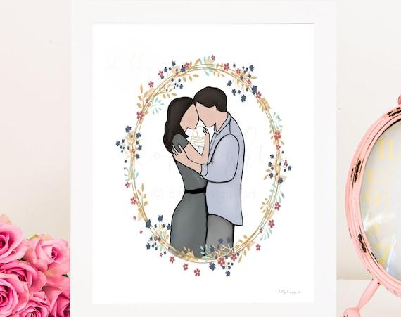 Infant Memorial, Memorial Art, Memorial Gift, Funeral Art, Funeral Gift, Baby Funeral, Infant Funeral, Parent Condolence, Mom Condolence