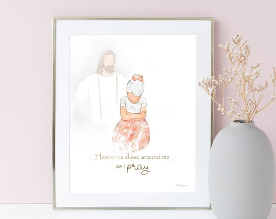 Girl Praying, Prayer Quote, Primary Hymn, Little Girl Praying, Jesus Christ, Prayer Art, Church of Jesus, Primary Art, Printables, Jesus Art