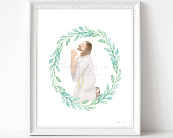 Gethsemane, Atonement, Jesus Art, Christ Art, Christ Printable, Jesus Printable, Prince of Peace, Prayer Art, Jesus Praying, Christian Art