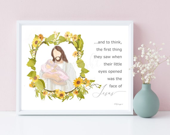 And to think the first thing they saw when their little eyes opened was the face of Jesus, Sunflower Wreath, Twin Baby Girls, Twin Loss Gift