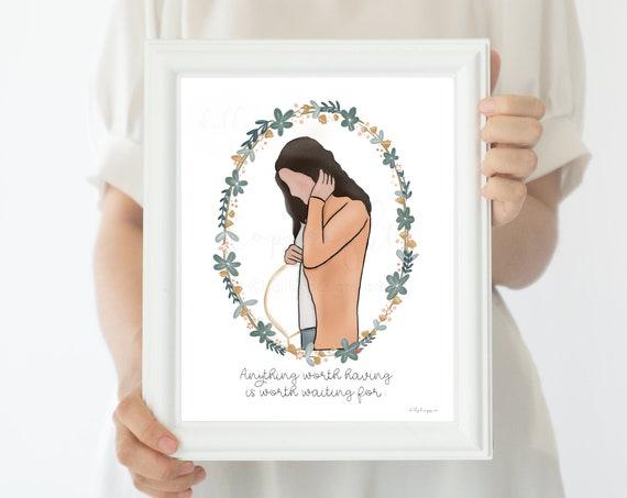 Infertility Gift, Infertility Art, Gift For Infertility, IVF Art, IVF Gift, Motivational Printable, Printable Gift, Gift for IVF, Botanical