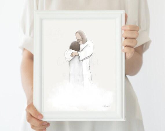 Sympathy Gift, Bereavement Gift, Condolence Gift, Printable Art, Religious Art, Christian Art, Christ Art, Jesus Art, Christians, Catholic