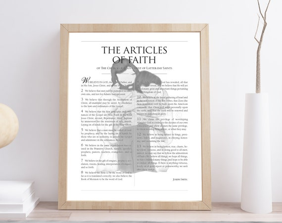 Articles of Faith, 13 Articles of Faith, 13 Articles, Faith, LDS Printables, LDS Printable, LDS Gift, Lds Gifts, Lds Printable Art, Lds Art