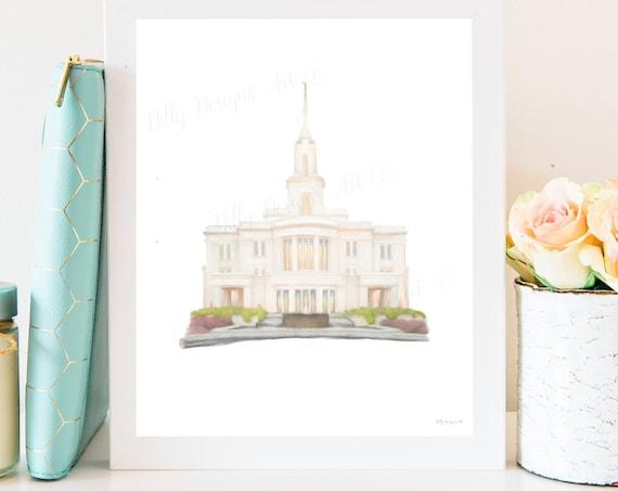 Payson Temple, Payson Temple Art, Temple Sealing, Temple Ceremony, Temple Sealing Gift, Wedding Gift, Payson, Utah Temple, LDS Temple Art