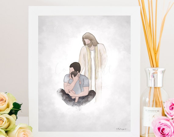 Sympathy Printable, Christian Printable, Christian Art, Sympathy Gift, Baby Boy Funeral Gift, Sorry For Your Loss, Reunion In Heaven, Jesus