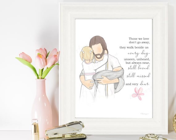 Loss of Child, Christ Art, Christ, Child Loss, Funeral, Funeral Art, Funeral Gift, Funeral Service, Child Loss Gift, Infant Loss, Stillborn