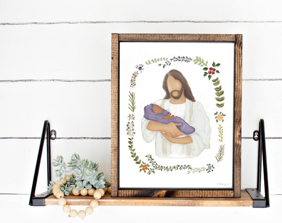 Jesus Art, Christ Art, Jesus Christ Art, Infant Loss Art, Baby Loss Art, Christ Holding Baby, Jesus Holding Baby, Christ Holding Infant, LDS