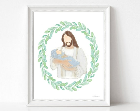 Infant Loss Gift, Infant Loss Gifts, Infant Loss, Child Loss, Baby Loss, Baby Loss Gift,  Christ Art, Savior Art, Jesus Christ, Grieving Art