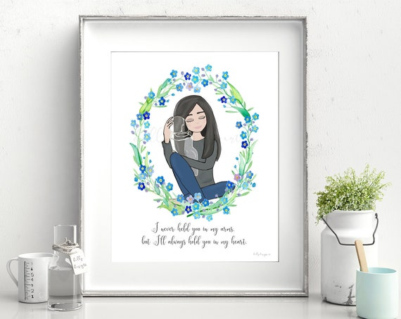 Baby Memorial Gift, Remembrance Gift, Angel Baby, Memorial, Remembrance, Baby Memorial, In Loving Memory, Memorial Keepsake, Bereavement Art