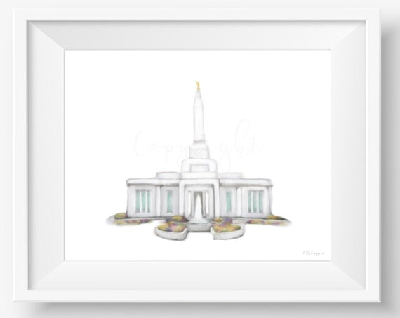 Indianapolis Temple, Indianapolis, Temple Wall Art, Temple Printable, Temple Digital Painting, Church of Jesus Christ of Latter Day Saints