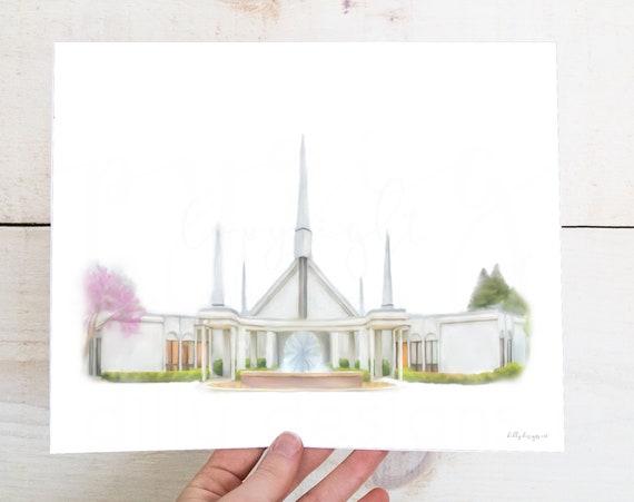 Chicago Temple Art, Chicago Temple, Temple Art, Chicago Art, Temple Printable, Printable Art, LDS Art, Wall Art, Church Art, Church Artwork