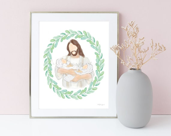 Grief Gift, Twin Memorial Gift, Christ Holding Twins, Christ Holding Babies, Jesus Memorial Gift, Jesus Holding Babies, Twin Memorial, Loss