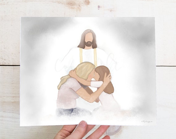 Funeral Gift, Memorial Gift, LDS Gift, Christian Gift, Bereavement Gift, Celebration of Life, Condolence Gift, Sympathy Gift, Jesus Art, LDS