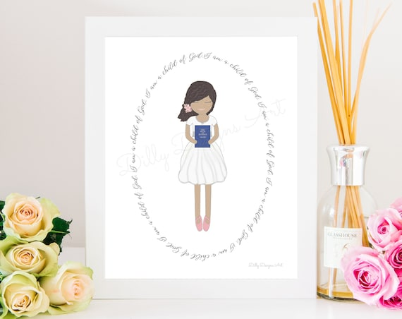 Baptism Gift, Church of Jesus Christ, Latter Day Saints, Book of Mormon, Scriptures, LDS Primary, Primary Gift, Baptism, Baptism Art, Church