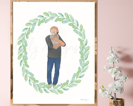 Dad Gift, Baby Loss, Dad Holding Angel Baby, Man Holding Baby, Father Gift, Father Holding Baby, Gift For Grieving Father, Pregnancy Loss