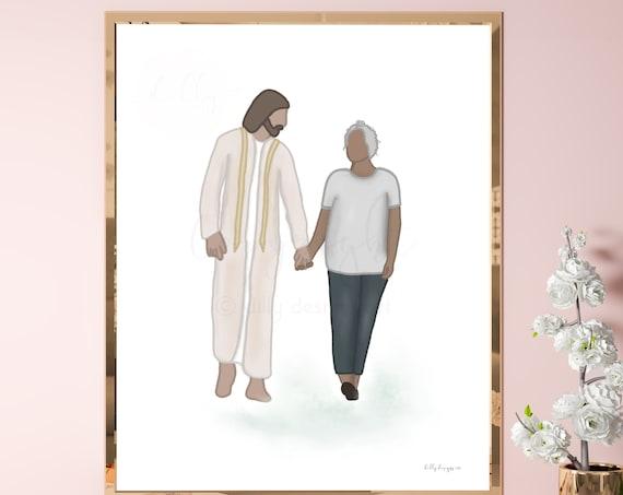 Christ's Love, Printable Art, Prayer, God, Christian Art, Jesus Art, Christ Art, Walking With Jesus, Redeemer, Savior, Christian Gift, Woman