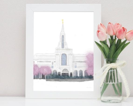 Bountiful Temple, Bountiful Temple Art, Bountiful LDS Temple, LDS Temple Wall Art, LDS Temple Printable, Bountiful, Lds Temple, Temple Art