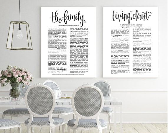 Family Proclamation, Living Christ, Bundle, Modern Emphasized, Modern LDS Printable, The Family, A Proclamation To The World,Church of Jesus