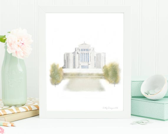 Cardston Alberta Temple, Alberta Temple, Cardston LDS Temple, Cardston Temple, Cardston Temple Art, Alberta LDS Temple, LDS Art, Cardston