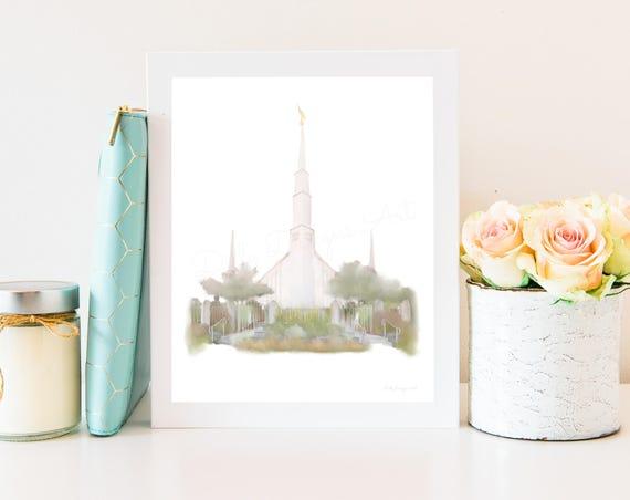 Boise Idaho Temple, Boise LDS Temple, Boise Temple, Idaho temple, Boise Temple Art, LDS Boise Temple, Idaho Lds Temple, Lds Art, Boise, Lds