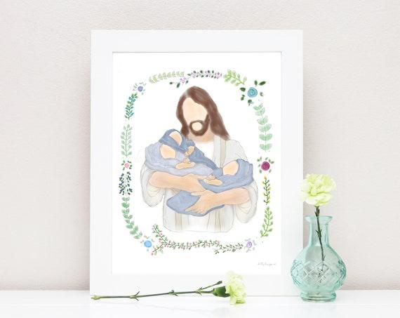 Triplet Loss, Triplets, Remembrance, Remembrance Gift, Infant Loss, Child Loss, Condolence, Triplet, Triplet Loss, Christ Holding Babies