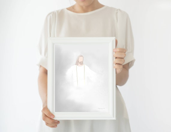 Christ, Christian Art, LDS Art, LDS Printables, Lord, Heaven, Relief Society, Young Womens, Christ Art, Comforting, Trials, Art, Savior, lds
