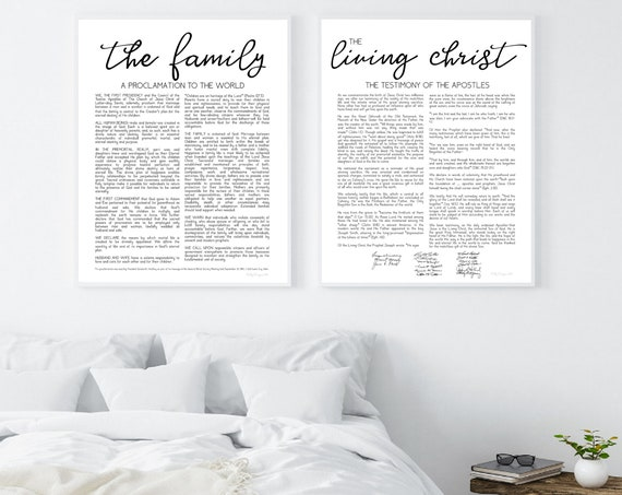 The Family Proclamation, The Living Christ, Family Proclamation, Living Christ, Proclamation Sign, Modern Proclamation, Christ, LDS, Black