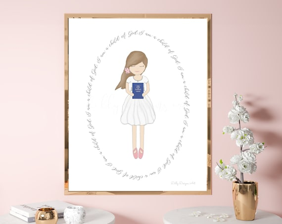 Great to be Eight, Great to be 8, Book of Mormon, Baptism, Baptism Gift, LDS Baptism, Lds Baptism Gift, Girl Baptism, Baptism Gift For Girl