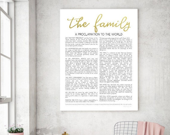 The Family Proclamation, Living Christ, Printable, Proclamation Printable, Family Proclamation, Proclamation, Family, LDS Printable, LDS
