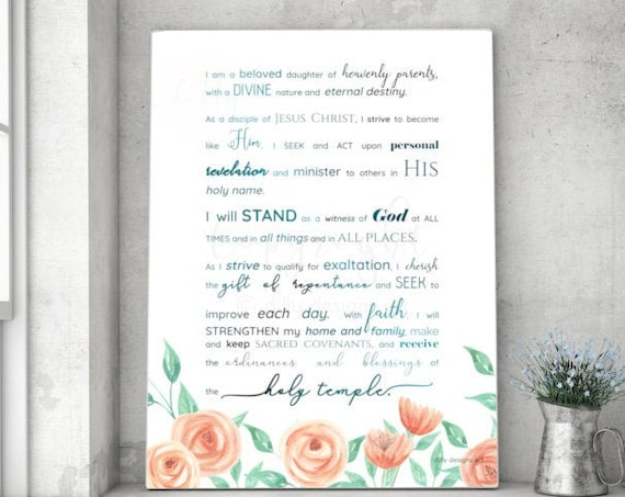 New Young Women's Theme, 2019, Young Womens Theme, Young Womens Theme Printable, General Conference 2019 Printable, Young Womens Theme Art