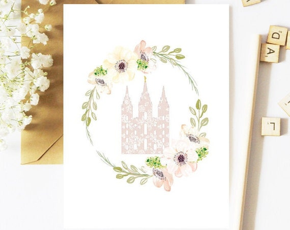 SLC Temple, Greeting Card, Printable Card, Temple Sealing, Temple Sealing Gift, Temple Sealing Card, Temple Card, LDS Temple, Sealing Gift