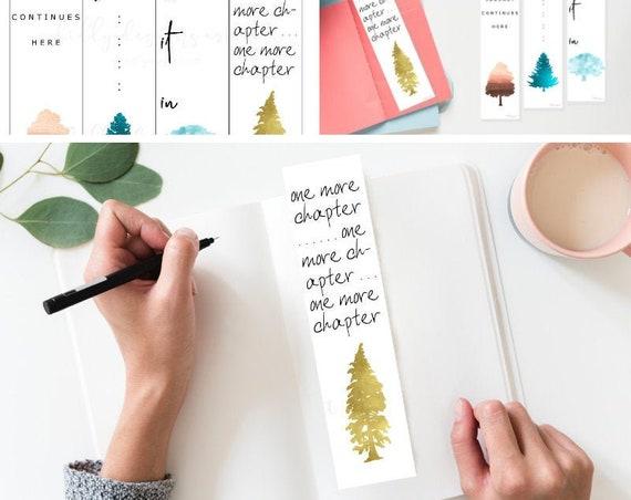 Printable Bookmarks, Book Lover Gift, Book Lovers Gift, Bookworm, Book Lover, Bookmark, One More Chapter, Bibliophile, Book Nerd, Printable